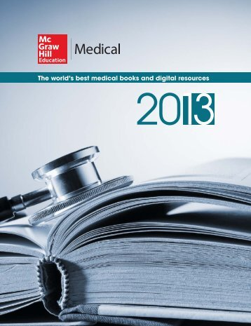 Medical 2013 catalog - McGraw-Hill Ryerson