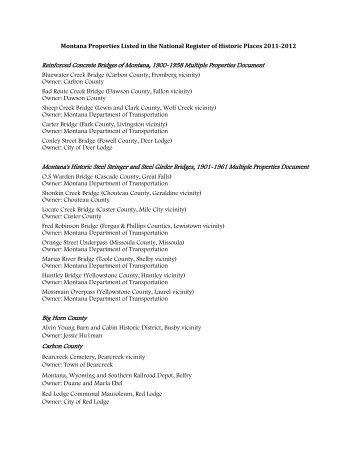 39 properties - Montana Historical Society