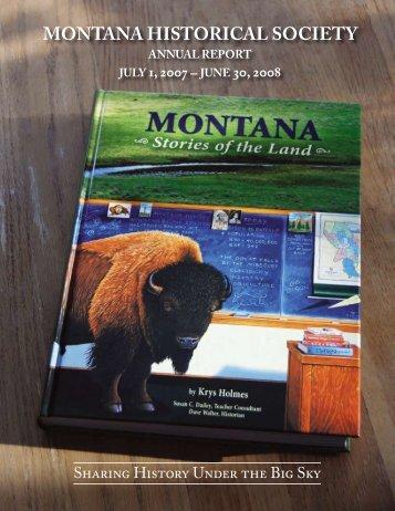 Year 2007-2008 - Montana Historical Society