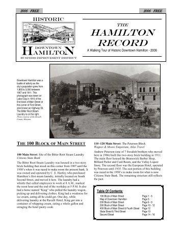 Hamilton - Montana Historical Society