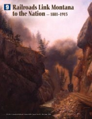 Jawbone Railroad, Sixteen Mile Canyon, by - Montana Historical ...