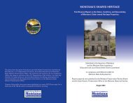 First Biennial Report on the Status, Condition - Montana Historical ...