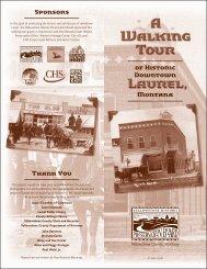 Laurel Walking Tour - Montana Historical Society