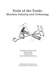 Tools of the Trade: - Montana Historical Society