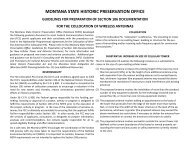 Guidelines for Preparation of Section 106 Documentation for the ...