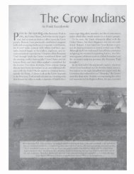 The Crow Indians and the Bozeman Trail - Montana Historical Society
