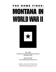 THE HOME FIRES: - Montana Historical Society