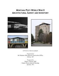 montana post-world war ii architectural survey and inventory