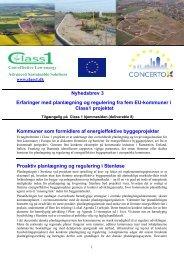 Nyhedsbrev 3 Erfaringer med planlægning og regulering ... - Class 1