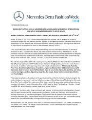 Benz Fashion Week Swim is an IMG event. - Mercedes-Benz ...