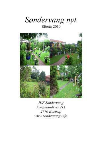 Efterårsbrev 2010 - Haveforening Søndervang