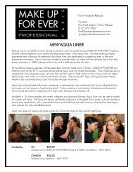 NEW AQUA LINER - Mercedes-Benz Fashion Week