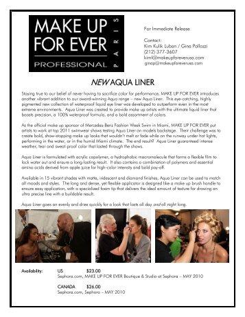 NEW AQUA LINER - Mercedes-Benz Fashion Week