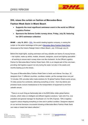 press release - Mercedes-Benz Fashion Week
