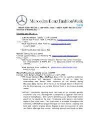 MEDIA ALERT_7.15.2011 - Mercedes-Benz Fashion Week