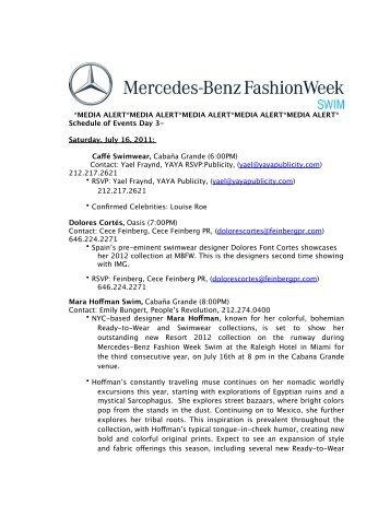 MEDIA ALERT_7.15.2011 - Mercedes-Benz Fashion Week