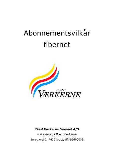 Abonnementsvilkår fibernet - Ikast El