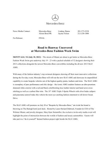 Road to Runway Uncovered at Mercedes-Benz Fashion Week Swim