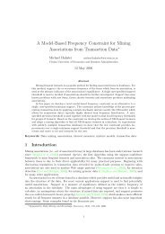 A Model-Based Frequency Constraint for Mining ... - Michael Hahsler