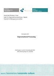 Improvisational Processing - MICC Projekt