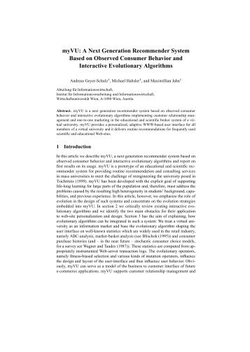A Next Generation Recommender System Based ... - Michael Hahsler