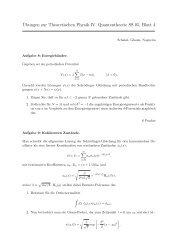 ¨Ubungen zur Theoretischen Physik IV, Quantentheorie SS 05, Blatt 4
