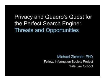 Zimmer Quaero slides.pdf - MichaelZimmer.org