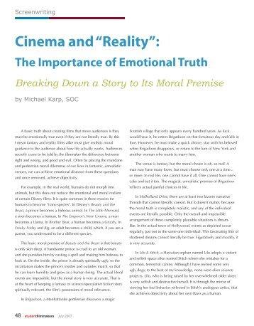 """Cinema and """"Reality"""": - Michael Karp"""