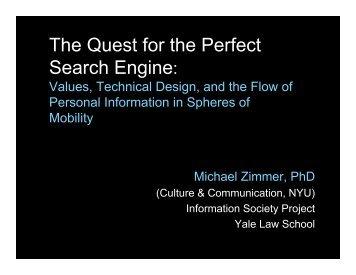 Zimmer SDP2007 slides.pdf - MichaelZimmer.org