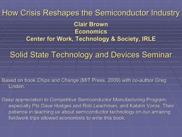 How Crisis Reshapes the Semiconductor Industry - Berkeley Microlab
