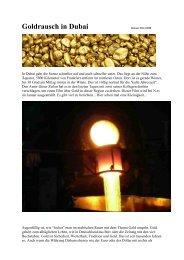 Goldrausch in Dubai Datum: 08.12.2008