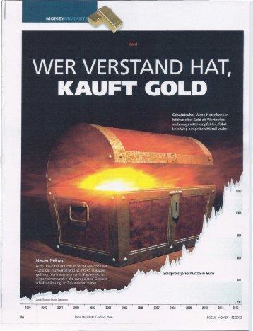 Wer Verstand hat kauft Gold