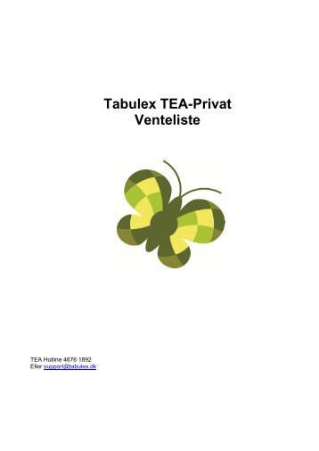 Venteliste - Tabulex