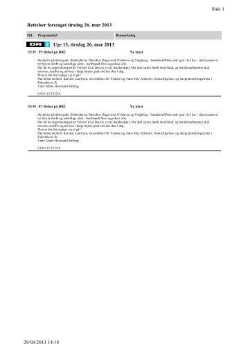 Side 1 28/03/2013 14:18 Rettelser foretaget tirsdag 26. mar ... - DR