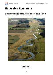 Spildevandsplan for det åbne land 2009 – 2014 - Haderslev ...