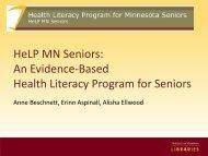 An Evidence-Based Health Literacy Program for Seniors - Midwest ...