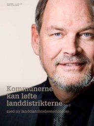 Kommunerne kan løfte landdistrikterne - KTC
