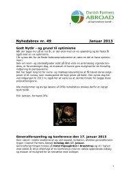 Nyhedsbrev nr. 49 + presseklip - Danish Farmers Abroad