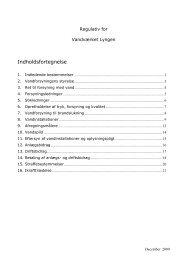 Regulativ for - Vandværket Lyngen