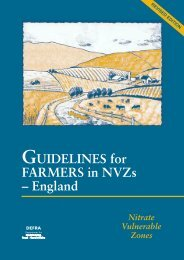 GUIDELINES for FARMERS in NVZs – England - WAgriCo