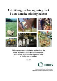 Udvikling, vækst og integritet i den danske økologisektor - ICROFS