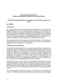 MIFKJF - Externer Brief - Ministerium für Integration, Familie, Kinder ...
