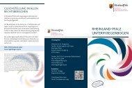 Flyer - Ministerium für Integration, Familie, Kinder, Jugend und ...