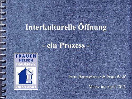 Beispiel Frauenhaus Bad Kreuznach - Ministerium für Integration ...