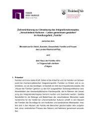 Zielvereinbarung zur Umsetzung des Integrationskonzeptes ...