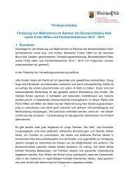 Fördergrundsätze - Ministerium für Integration, Familie, Kinder ...