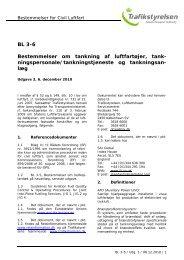 BL 3-6 Bestemmelser om tankning af luftfartøjer ... - Trafikstyrelsen