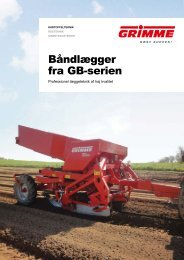 Download tekniske data - Grimme Skandinavien A/S