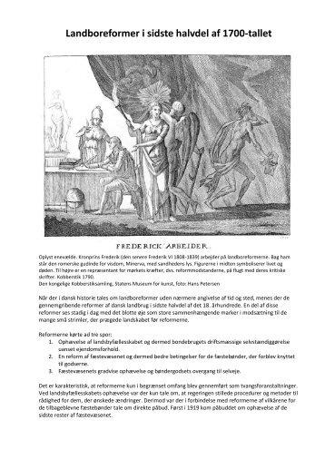 Landboreformer i sidste halvdel af 1700-tallet - VUF Historie hold 643
