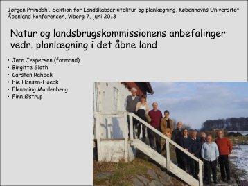 Natur og landbrug kommissionens forslag til planlægning i det åbne ...